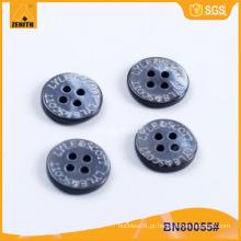 Laser gravado MOP shell botão para a camisa BN80055