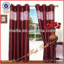 Hot Sale With Tafta Linings Jacquard Curtain Design