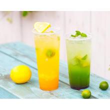 Taza disponible al por mayor de la bebida del plástico transparente con la tapa