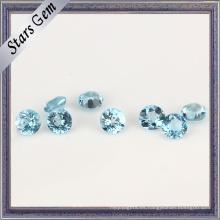 Abalorio de piedras preciosas de topacio azul suizo transparente natural