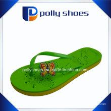 Женские Размер 36 черный и зеленый Тонг сандалии