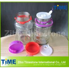 Grifo de agua de vidrio grande con tapa de plástico sellado
