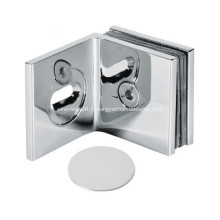 Pince carrée mur-verre à 90 degrés avec support réglable