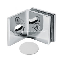 Square 90-Degree Wall-to-Glass Clamp with Adjustable Mount