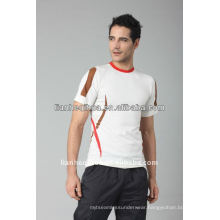 summer knitting seamless men t-shirt