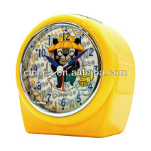 Laranja relógio despertador / relógio de mesa, relógio de mesa, patente uniforme luz projetor despertador CK-503