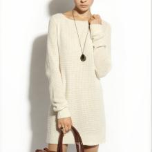 17PKCS165 2017 mulheres inverno quente moda 85/15 vestido de cashmere de algodão
