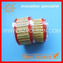 Heat encolher 3: 1 tubo marcador de cabo
