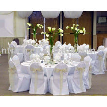 100%polyester chair cover,Hotel/banquet chair covers,organza sashes