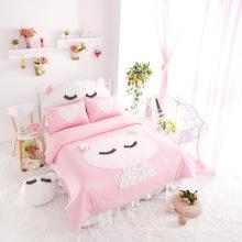 2015 Горячая Распродажа Новый Принцесса Розовый Постельных Принадлежностей Хлопка Набор