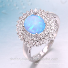 Latest arrival charming sea blue 925 sterling silver ring for women