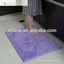 allée coureur bain étanche cheveux longs tapis longue pile 100% polyester tapis d'entrée lavable en machine