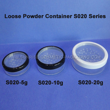 5g 10g 20g Clear Loose Powder Jars with Sifter