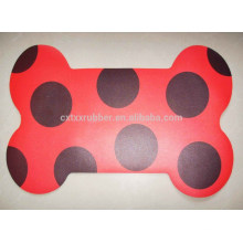 bone shape pvc pet mat, neoprene backing pet mat