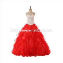 Vestido de boda nupcial rojo de la novia de los vestidos de boda de la novia 2017 para la foto