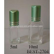 Rouleau de 5ml / 10ml sur la bouteille en verre vide de parfum