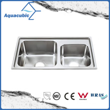Above Counter Stainless Steel Moduled Kitchen Sink (ACS-8043)