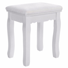 vanity stool white baroque padded dressing table chair