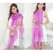 100% полиэстер / высокое закрутки Маркизета ткань для шарфа