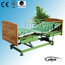 Three Functions Wooden Electric Hospital Healthcare Bed (XH-5)