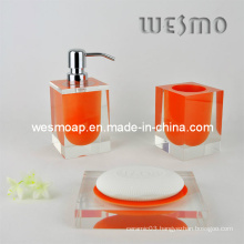 Transparent Polyresin Bathroom Set (WBP0202F)