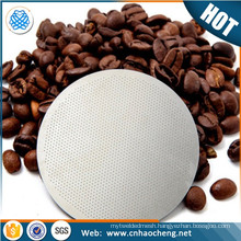 Etching micro holes precision mesh filter disc etched coffee filter with laser printed logo