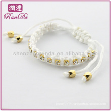 Enrouler le bracelet en cristal de soie de nombreuses couleurs