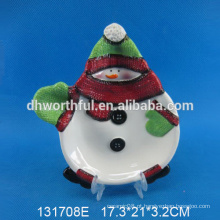 2016 novo estilo Cerâmica Natal Snowman Plate