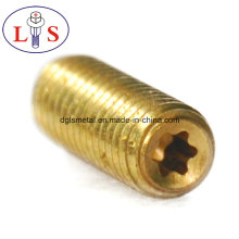 Factory Price Brass Machined Slotted Set Screw