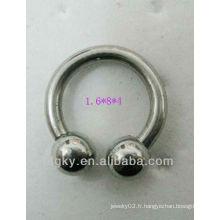 Boucles d'oreilles en fer à cheval en acier inoxydable Piercing en sourcils en spirale