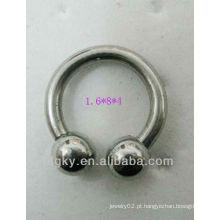 Brincos de aço inoxidável em forma de ferradura espiral sobrancelha piercing