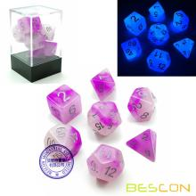 Bescon+Two+Tone+Glowing+Polyhedral+Dice+7pcs+Set+FROSTY+AMETHYST%2C+Luminous+RPG+Dice+Glow+in+Dark%2C+DND+Role+Playing+Game+Dice