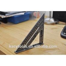 Régua de triângulo de alumínio (quadrado, régua, ferramentas da medida)