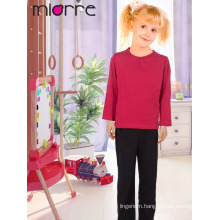 Miorre New 2017 Season Kid's Comfortable Plain Color Top & Bottom Pajamas Set