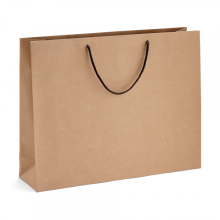 Custom printed brown kraft paper shopping bag