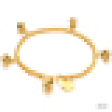 Ladies Exquisite Fashion 18k Chapado en oro Bell Pulsera