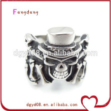 Stainless steel skull ring silver jewelry gothic wholesale