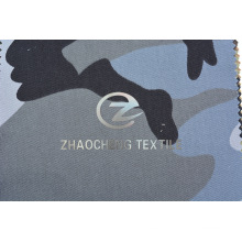 T / C65 / 35 2/1 Tejido de sarga con camuflaje de desierto gris para chaleco a prueba de balas (ZCBP271)