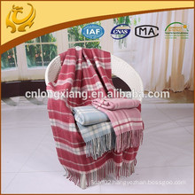 Woven Made In China 100% Wool Material Airline Gift Twill Style Wool Blanket