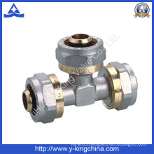 Brass Tee Compression Fitting for Pex Pipe (YD-6057)