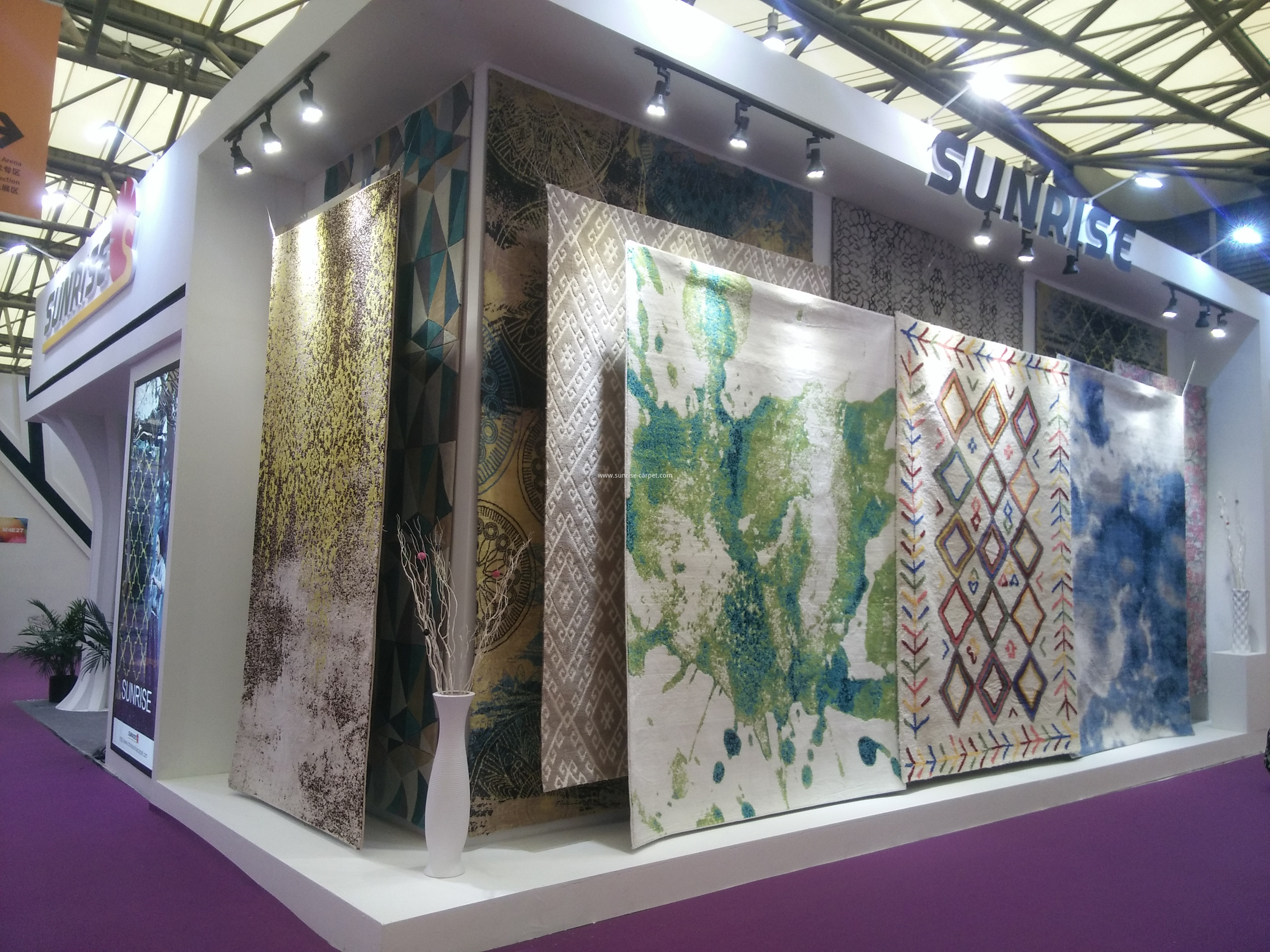 Our booth in Domotex Shanghai