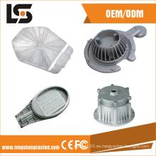 Alta potencia a presión fundición de pantalla LED y accesorios de vivienda farola