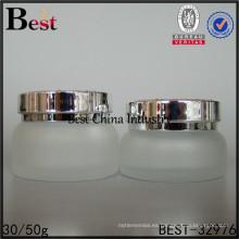 al por mayor botella de vidrio esmerilado ámbar 30 ml 50 ml de envases de crema