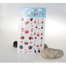 Customized Emoji Cartoon Epoxy Sticker for Kids, Girls