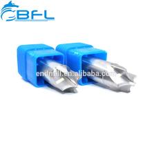 Carboneto de tungstênio da ferramenta de corte do CNC de BFL moinho de extremidade do chanfro de 45 graus