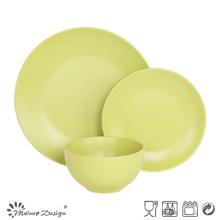 18PCS cerâmica jantar conjunto sólido esmalte verde
