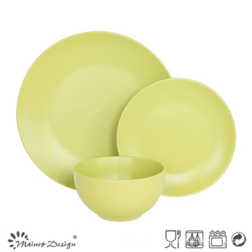 18PCS Ceramic Dinner Set Solid Glaze Green