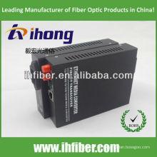 10/100 / 1000M FC SM de fibra óptica de doble convertidor de medios