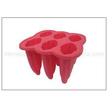 6 celdas de hielo de silicona fabricante de lechón (RS13)