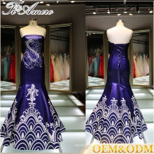 Alibaba China wholesale Blue ball gown women Halter wedding dress